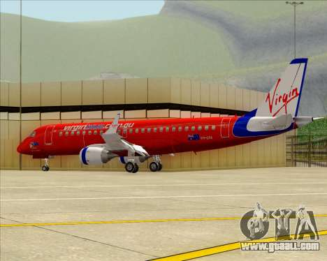 Embraer E-190 Virgin Blue for GTA San Andreas inner view