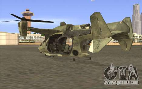 HELO4 Future Hunter for GTA San Andreas left view