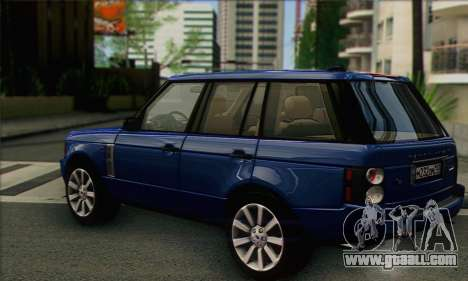Range Rover Supercharged for GTA San Andreas left view