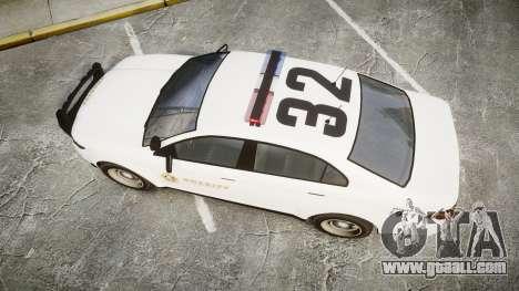 GTA V Vapid Interceptor LSS White [ELS] for GTA 4 right view