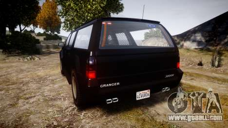 GTA V Declasse Granger Unmarked [ELS] Slicktop for GTA 4 back left view