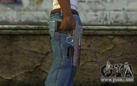 Silver Desert Eagle for GTA San Andreas third screenshot