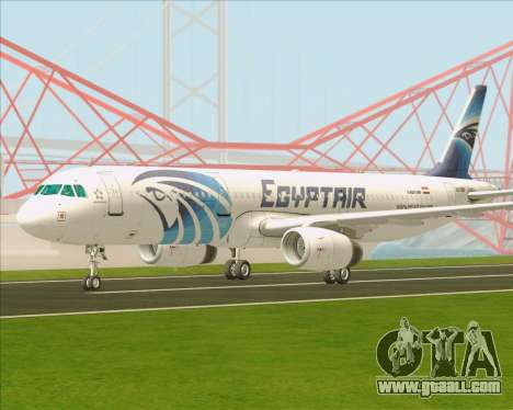 Airbus A321-200 EgyptAir for GTA San Andreas back left view