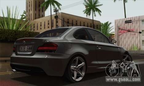 BMW 135i 2009 for GTA San Andreas left view