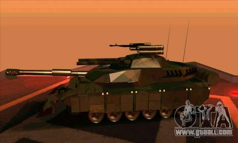 M1A1 Abrams Brawl (Transformers) for GTA San Andreas back left view