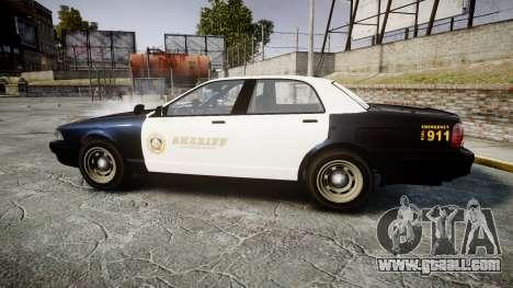 GTA V Vapid Cruiser LSS Black [ELS] Slicktop for GTA 4 left view