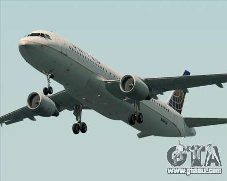 Airbus A320-232 United Airlines for GTA San Andreas engine