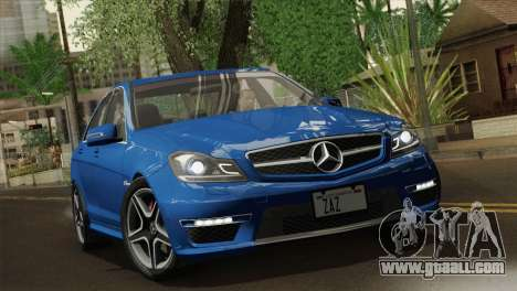 Mercedes-Benz C63 AMG Sedan 2012 for GTA San Andreas