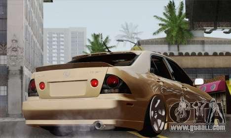 Lexus IS300 Hellaflush for GTA San Andreas left view