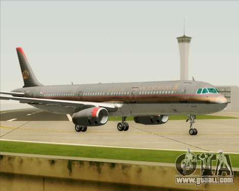 Airbus A321-200 Royal Jordanian Airlines for GTA San Andreas back left view