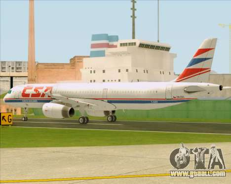 Airbus A321-200 CSA Czech Airlines for GTA San Andreas upper view