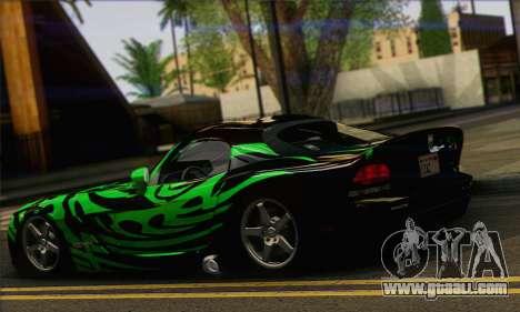 Dodge Viper SRT 10 for GTA San Andreas left view