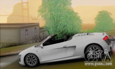 Audi R8 V10 Spyder 2014 for GTA San Andreas left view