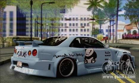 Nissan Skyline R-34 SDK Style for GTA San Andreas left view