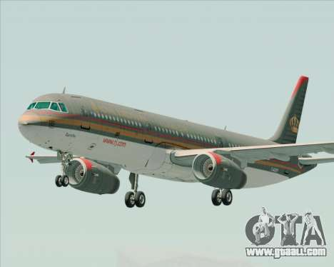 Airbus A321-200 Royal Jordanian Airlines for GTA San Andreas