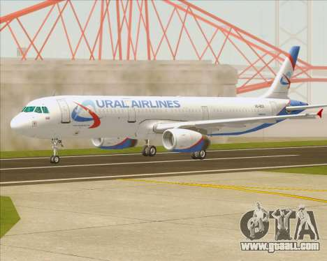Airbus A321-200 Ural Airlines for GTA San Andreas inner view