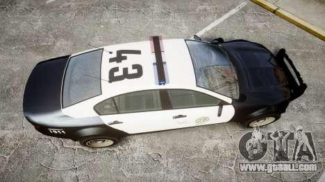 GTA V Cheval Fugitive LS Police [ELS] for GTA 4 right view