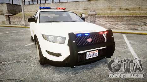 GTA V Vapid Interceptor LSS White [ELS] for GTA 4