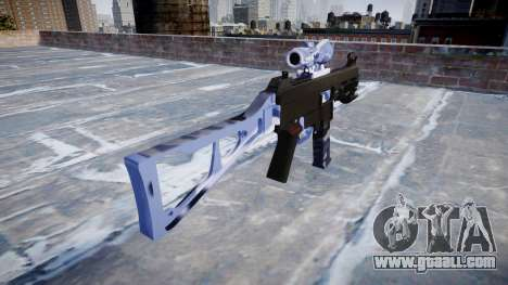 Gun UMP45 Blue Tiger for GTA 4 second screenshot