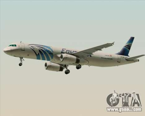 Airbus A321-200 EgyptAir for GTA San Andreas right view