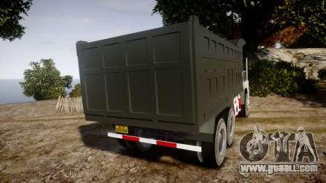 HOWO Truck for GTA 4 back left view