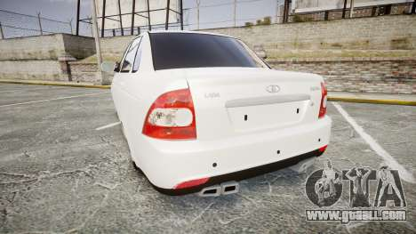 VAZ-2170 AMG exhaust for GTA 4 back left view