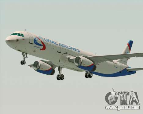 Airbus A321-200 Ural Airlines for GTA San Andreas left view