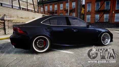 Lexus IS 350 F-Sport for GTA 4 left view
