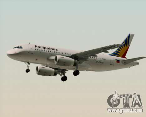 Airbus A319-112 Philippine Airlines for GTA San Andreas upper view