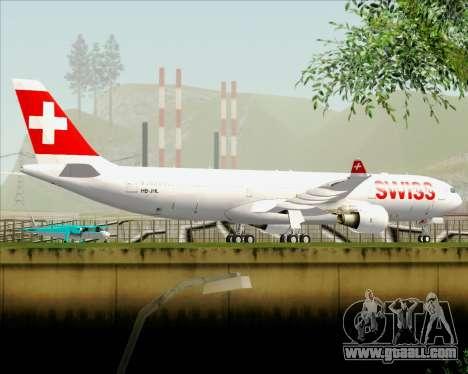 Airbus A330-300X Swiss International Air Lines for GTA San Andreas bottom view