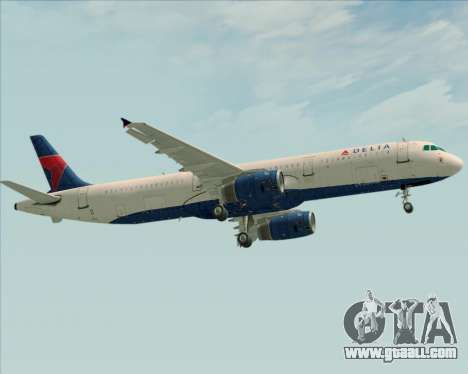 Airbus A321-200 Delta Air Lines for GTA San Andreas back view