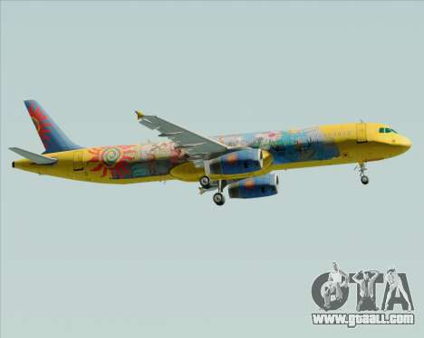 Airbus A321-200 for GTA San Andreas back left view
