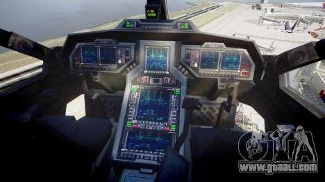VTOL Warship PJ3 for GTA 4 right view