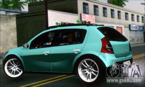 Dacia Sandero XIC for GTA San Andreas left view