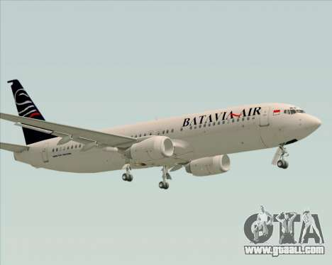 Boeing 737-800 Batavia Air for GTA San Andreas bottom view