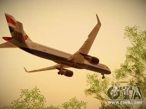 Boeing 757-236 British Airways for GTA San Andreas inner view