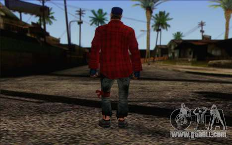 Vagabonds Skin 3 for GTA San Andreas second screenshot