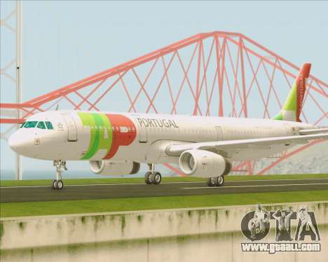 Airbus A321-200 TAP Portugal for GTA San Andreas inner view