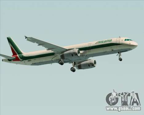 Airbus A321-200 Alitalia for GTA San Andreas right view