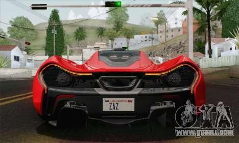 McLaren P1 HQ for GTA San Andreas inner view