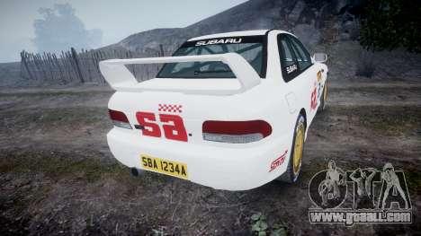 Subaru Impreza WRC 1998 SA Competio v3.0 for GTA 4 back left view