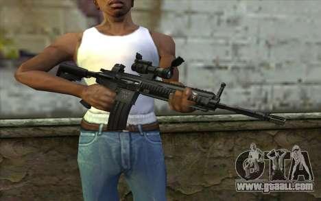 HK416 (Bump mapping) v1 for GTA San Andreas third screenshot