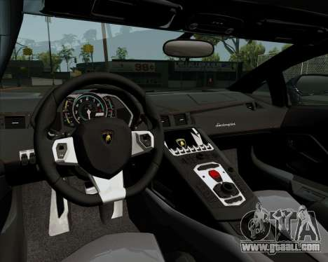 Lamborghini Aventador for GTA San Andreas inner view