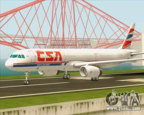 Airbus A321-200 CSA Czech Airlines for GTA San Andreas inner view