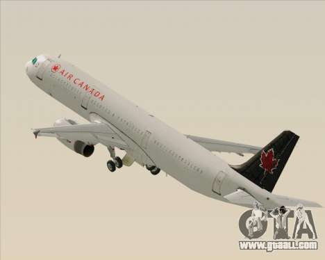 Airbus A321-200 Air Canada for GTA San Andreas wheels