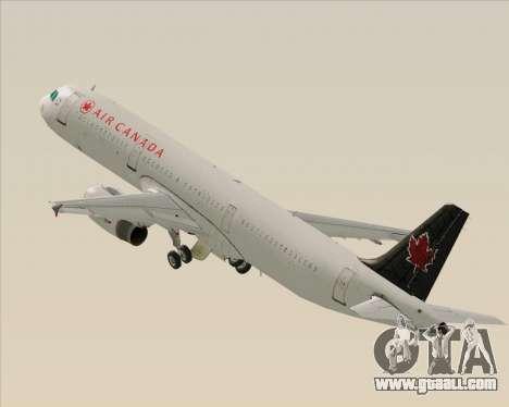 Airbus A321-200 Air Canada for GTA San Andreas wheels