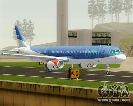 Airbus A321-200 British Midland International for GTA San Andreas left view