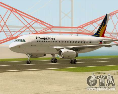 Airbus A319-112 Philippine Airlines for GTA San Andreas left view
