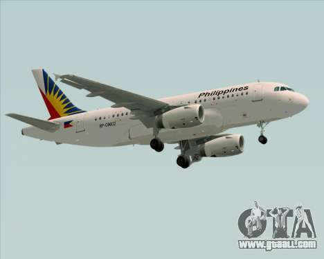 Airbus A319-112 Philippine Airlines for GTA San Andreas back left view