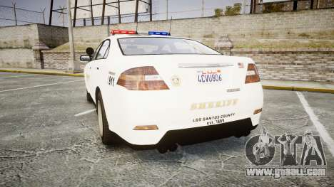 GTA V Vapid Interceptor LSS White [ELS] for GTA 4 back left view